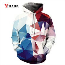 3D Hoodies Mens Womens Autumn Sweatshirt Gradient Geometric Graphic Casual Coat Pullover Tracksuit Unisex Tops