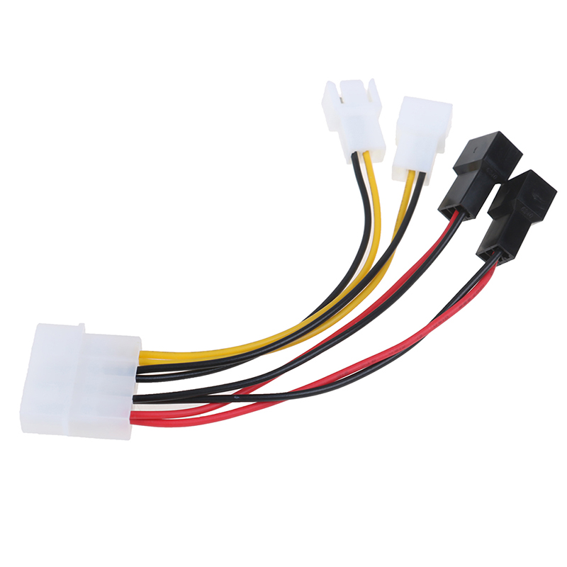 4 2 3 4-Pin Molex To 3-Pin Fan Power Cable Adapter Connector 12v*2/ 5v*2 Computer Cooling Fan Cables For CPU PC Case Fan Cable (3)