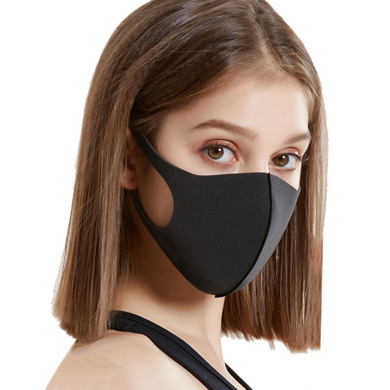 Reusable Fashion Mouth Mask,Adult / Children PM2.5 Pollen Anti Dust Mask Anti Pollution Mask Ice Elastic Earloop Face Mouth Mask