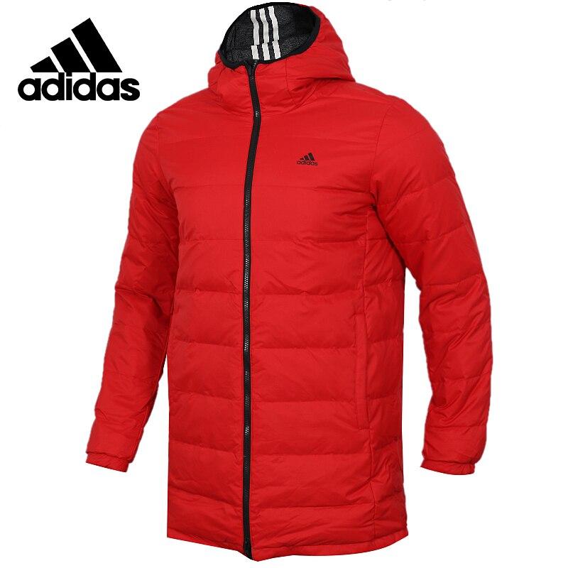 Adidas Neo REVERSIBLE PARK Red Down Jacket Mens Running Jas Sport Kleding Wind-proof Hoodies