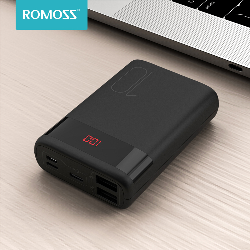 ROMOSS Ares 10 Mini 10000mAh <font><b>Power</b></font> <font><b>Bank</b></font> Double USB Powerbank <font><b>10000</b></font> mAh Portable External Battery Charger For iPhone Xiaomi image