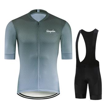 2021 Ralvpha zestaw koszulek rowerowych oddychająca Pro koszulka na rower mężczyźni odzież rowerowa ubrania spodenki na szelkach garnitury odzież rowerowa koszulki tanie i dobre opinie CN (pochodzenie) 100 poliester polyester Z krótkim rękawem Bezpośrednia sprzedaż z fabryki 80 poliestru i 20 materiału Lycra