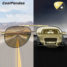 2020 New Aviation Photochromic Sunglasses Men Polarized HD C