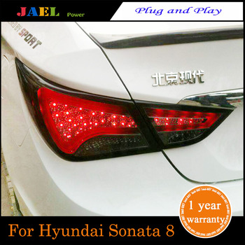 JAEL LEDTail Light For Sonata 8 Taillights Tail Lamp+Turn Signal+Brake+Reverse LED light
