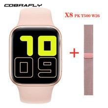 Cobrabie x8 relógio inteligente 1.54-inch bluetooth chamada de fitness-rastreador de freqüência cardíaca monitorng relógio inteligente para ios android dropshipping
