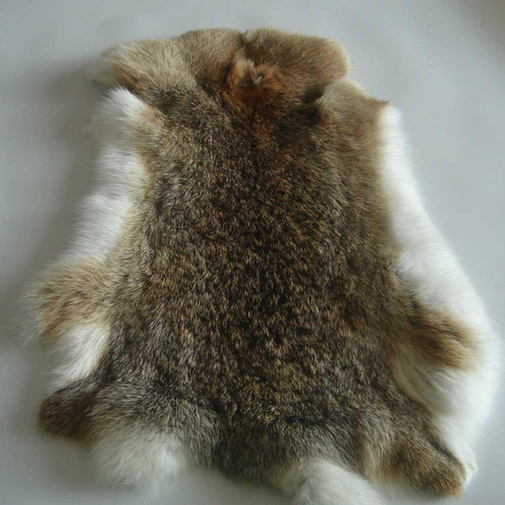 Chocolate Brown  Genuine Natural Leather Hide Fur Pelt Dyed Rabbit Pelt