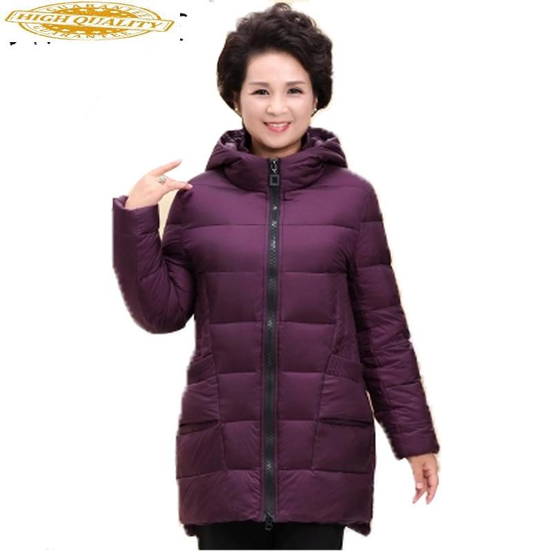 Woman Jacket 2019 Winter Brand Parkas White Duck Down Coat Light Jacket Daunenjacke Frauen Warm Jackets Plus Size 5XL XC028