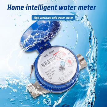 Miernik zimnej wody inteligentne mechaniczne obrotowe skrzydło wyświetlacz cyfrowy wysoka precyzja miernik przepływu wody zimnej wody gospodarstwa domowego tanie i dobre opinie hydrauliczny CN (pochodzenie) Water meter ABS + iron 1 5m3 h 0 03m3 999999 0 ~ 40 ℃ PN1 6