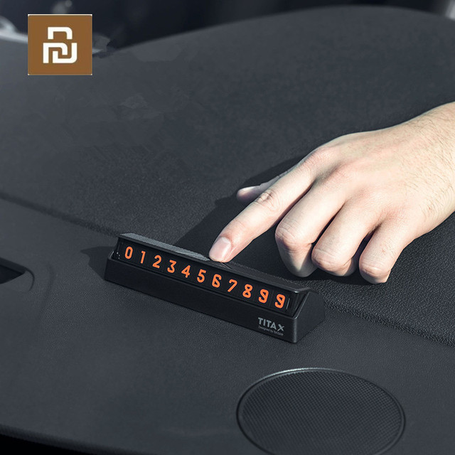 For xiaomi Mijia Bcase TITA  X Share To Bcase Flip Type Car Temperary Parking Phone Number Card Plate Mini Car Decoration