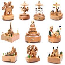 Деревянная музыкальная шкатулка высокого качества из бука, музыкальная шкатулка из дерева в стиле ретро, подарок на день рождения для мальчиков и девочек, украшение для семьи