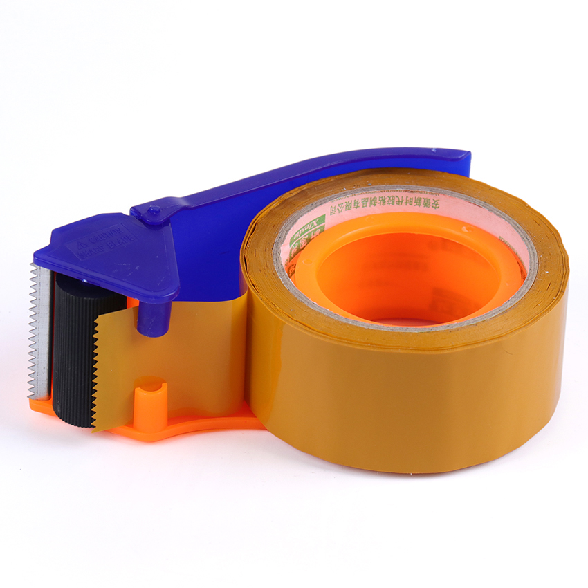 1PC Taper Tape Cutter Baler Adhesive Dispenser Office Desktop Blue Tape Holder Packing Dispense