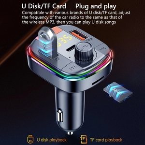 Image 4 - Bluetooth 5,0 Auto Kit Freisprechen FM Transmitter Stereo Auto MP3 Player PD18W QC 3,0 Schnell Ladung USB Auto Ladegerät TF/U Disk Spielen