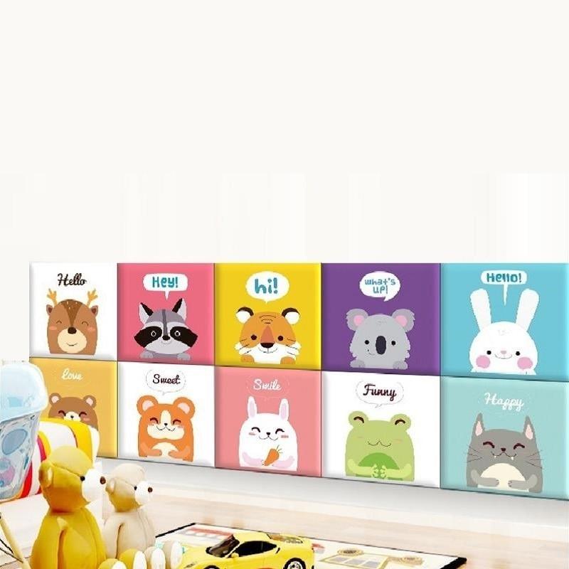 Testiera Letto Chambre A Coucher Children Anti-collision Child 3D Wall Sticker Cabeceira Tete Lit Cabecero De Cama Bed Headboard