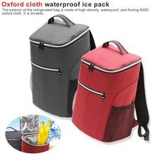 20L Outdoor Insulated Cooling Backpack Thermal Cooler Bag Bento Picnic Pouch Lunch for Travel Camping
