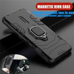 На Алиэкспресс купить чехол для смартфона business armor case for oppo k3 hybrid hard pc tpu silicone shockproof protective cover for oppo f11 pro reno z realme 3 case