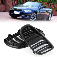 For BMW E92 E93 3 Series M3 E92/E93 Coupe Convertible 2006 2007 2008 2009 Car Front Grille Grills Gloss Black Car Dual Line