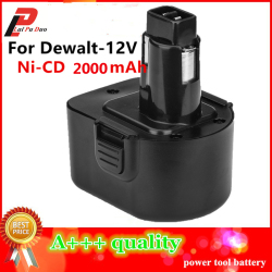 12V Ni-CD 2.0Ah Replacement Power Tool Battery For Dewalt DE9074 DC9071 DE9037 DE9071 DE9074 DE9075 DW9071 DW9072 DW9074