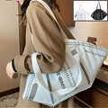 Большая вместительная сумка, Женская креативная Повседневная Холщовая Сумка-тоут, сумка-мессенджер, женские ручные сумки, женская сумка че...