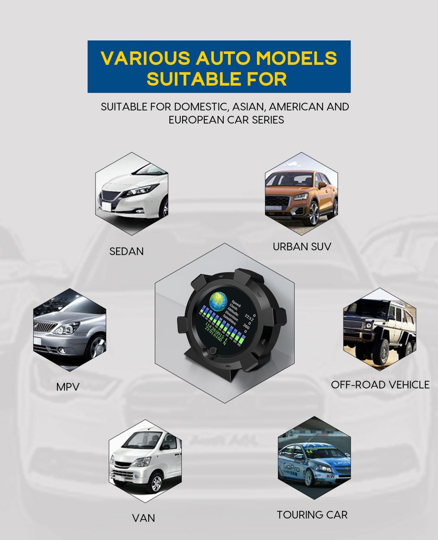 lowest price OBD2 Hud Upside Down HD TFT Car Speed Windshield Projector Head-Up Display Speedometer Auto Alarm OBD OBDii Oil Water Temp Gauge