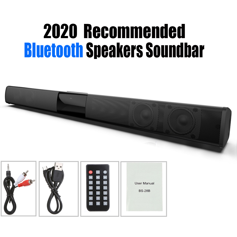 20W Bluetooth Speakers Hifi Home Surround System Soundbar Stereo Wired and Wireless for PC Theater TV Speaker Subwoofer(China)
