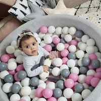 100/200 Pcs Ocean Ball Pit Baby Kid Bath Swim Toy Children Water Pool Beach Ball Soft Plastic Toys Newborn Photography Prop