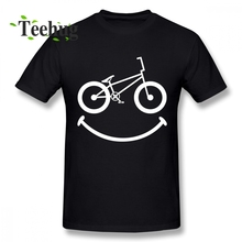 New Design BMX Smile BICYCLE MOTOCROSS T Shirt For Men Arrival Custom Boy Pure Cotton Top Tees