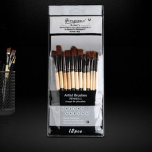 12 pcs Professional Paint Brushes Different Shape Nylon Hair Artist Painting Brush For Acrylic Oil Watercolor Art Supplies