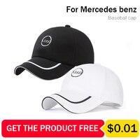 Für benz logo baseball Cap Hut kappe für Mercedes benz hut schwarz/weiß baumwolle sonnenhut für verkauf UV schutz 2020 neue auf