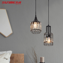 Nordic LED Pendant Lights Crystal Industrial Light For Bar Dining Table Bedroom Modern Living room Hanging Lamp Kitchen Art deco nordic style art table light personality creative dining room studio bedroom bar decoration light free shipping