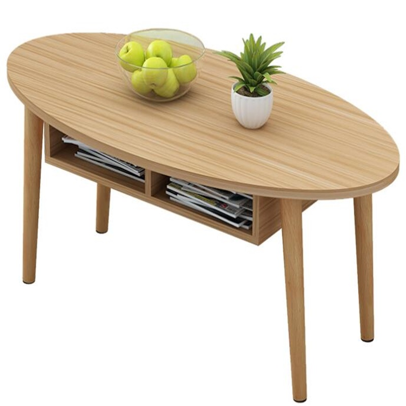 100*50*42CM Solid wood table legs Elipse Tea table Coffee table end table With drawer