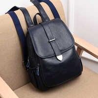 Mochila De Cuero Negro de alta calidad para mujer ZDG, mochila de viaje a la moda, mochila escolar de gran capacidad para niña