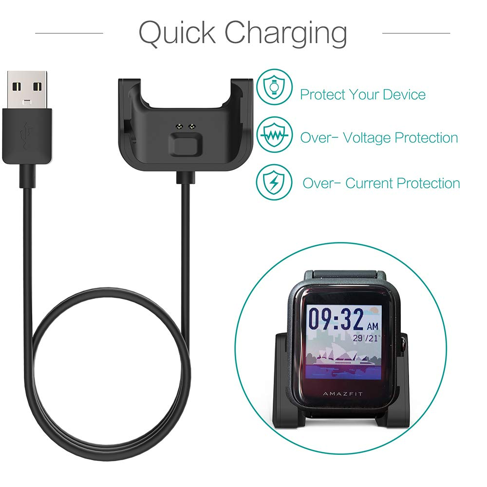 Smartwatch Chargers Fast Charging Cable Cradlefor Xiaomi Huami Amazfit Bip Youth A1608 Model Replacement USB Magnetic Charger