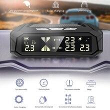 TPMS con alarma de presión de neumático de coche, sistema de Monitor de temperatura de neumático, pantalla Digital, sistemas de alarma de seguridad de coche con 6 sensores