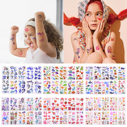 10 Sheets /Set Children Cute Cartoon Animal Temporary Tattoo Stickers Baby Shower Kids Body Makeup Sticker Tattoos