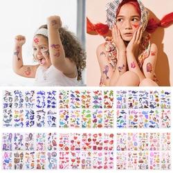 10 Sheets /Set Children Cute Cartoon Animal Temporary Tattoo Stickers Baby Shower Kids Body Makeup Sticker Tattoos