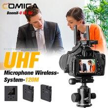 Comica BoomX U U1 U2 Micrófono UHF Sistema inalámbrico Profesional Solapa Lavalier Transmisión Grabación de entrevistas Video Vlog Mini micrófono para videocámara con cámara DSLR para Canon / Nikon / Sony / Panasonic