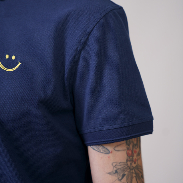 Polo regular fit with smile embroidery