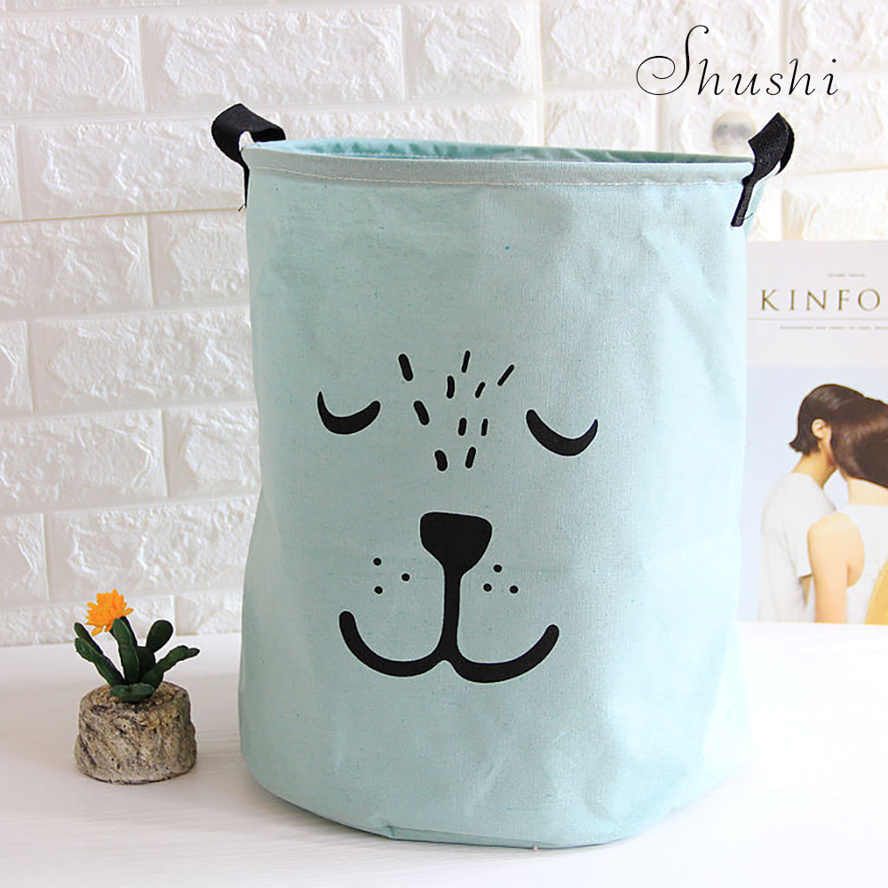 Shushi Large Portable Cartoon Bag Clothes Storage Dirty Laundry Basket Clothes Kid Toy Basket Storage Various Items Organizer