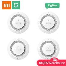 Xiaomi mijia honeywell sensor de fumaça alarme incêndio detector gás trabalho com multifunction gateway 2 controle aplicativo segurança em casa inteligente