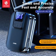 Licheers Wireless Car Air Pump With LED Lamp Tire Inflator Air Pump Digital Pressure Auto Portable for Car Bicycle Ball Mattress