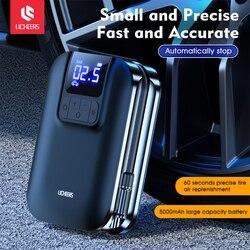 Licheers Wireless Car Air Pump With LED Lamp Tire Inflator Air Pump Digital Pressure Auto Portable for Car Bicycle Ball Mattress