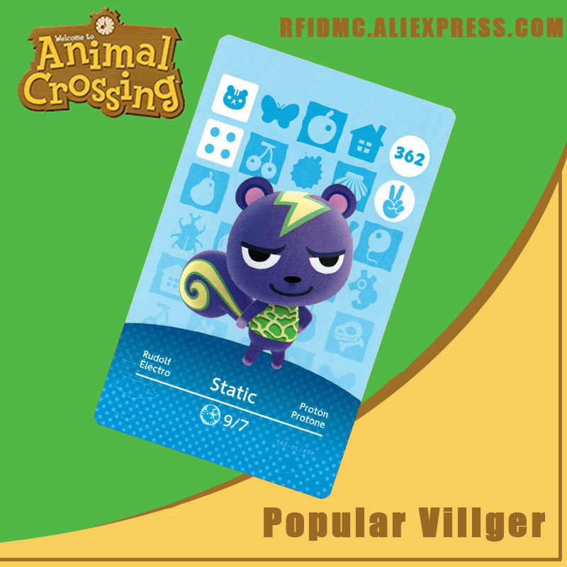 362 Static Animal Crossing Card Amiibo For New Horizons