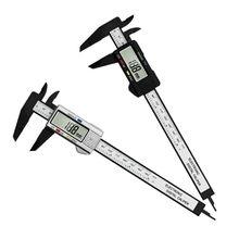 Diâmetro eletrônico das ferramentas de medição da pinça de digitas vernier do calibre plástico de grande resistência de 0-150mm