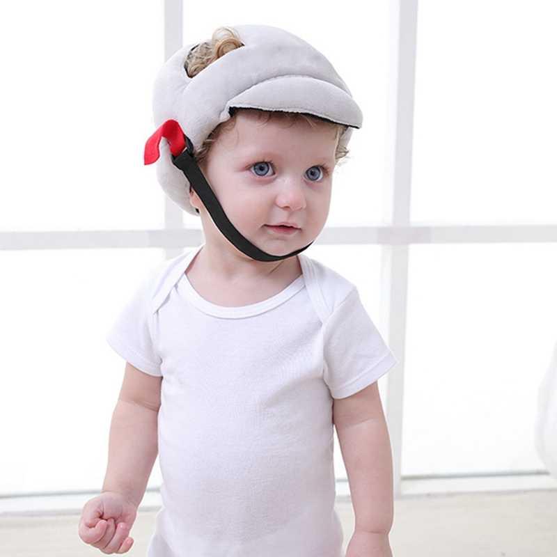 Gorro de bebé gorro de protección para la cabeza de bebé para niños casco suave de seguridad resistente a golpes