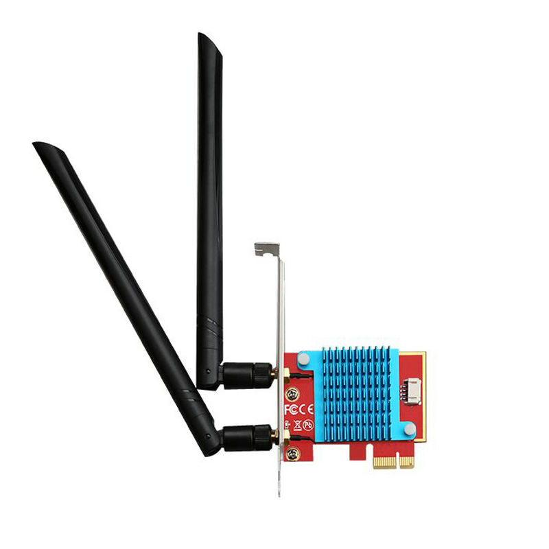 Intel <font><b>AX200</b></font> Wireless WiFi 6 Bluetooth V5.0 Network Card Adapter <font><b>PCIe</b></font> to M.2 NGFF Expansion Card wifi adapter Support MU-MIMO image