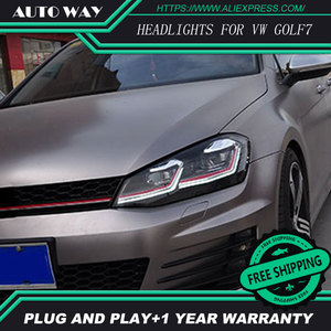 Image 4 - Car Styling H7 Head Lamp case for VW Golf7 Golf 7 Headlights Golf 7 MK7 2014 2015 LED Headlight DRL Lens Double Beam Bi Xenon