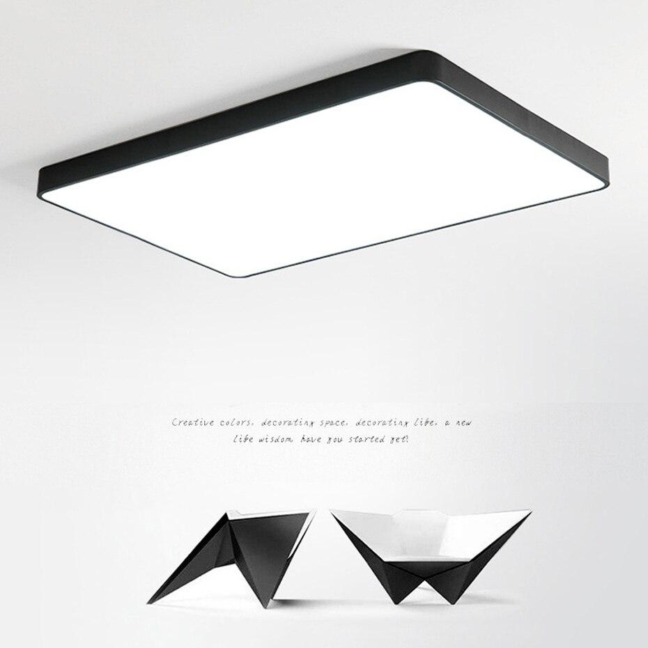 ouro preto branco ultra fino 5cm led luz 04