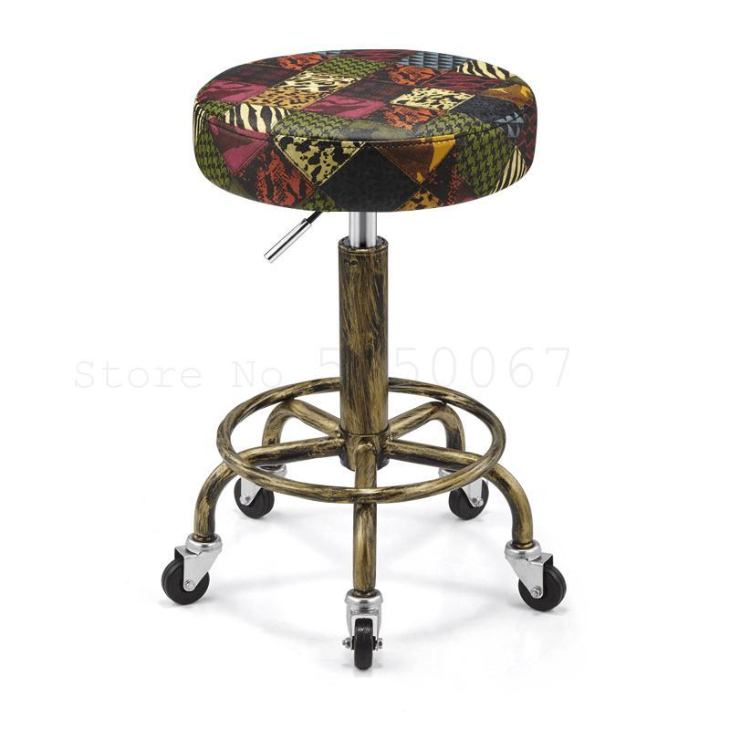 Rotating Lift Beauty Chair Nail Salon Barber Chair Explosion-proof Work Bench Hair Salon Turn Stool Round Master Chair