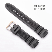 Rubber Strap for Casio AE-1000w AQ-S810W SGW-400H / SGW-300H Silicone Watchband Pin Buckle Strap Watch Wrist Bracelet Black цена