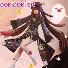 PRE-SALE dokidoki-sr jogo genshin impacto hutao cosplay traje hu tao traje genshin impacto hutao traje